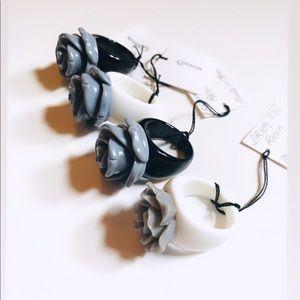 ☼4 for 20$☼ Grey Rose Ring